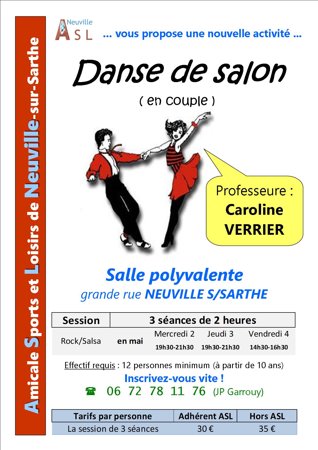 Asl neuville sur sarthe for Danse de salon nord