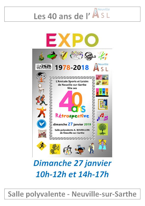 Affiche 40 ans expo 1xa4